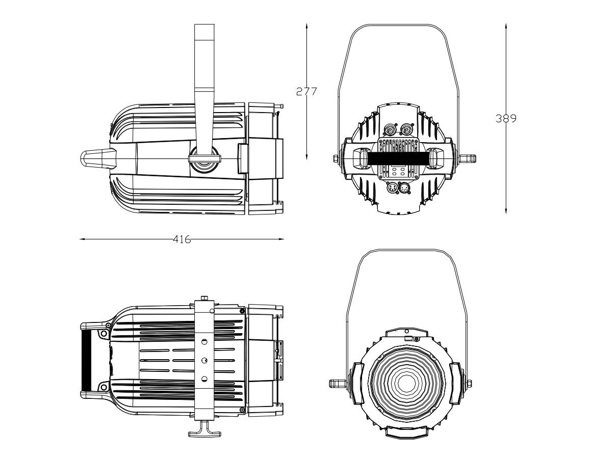 Lites F 200 Z dimensions