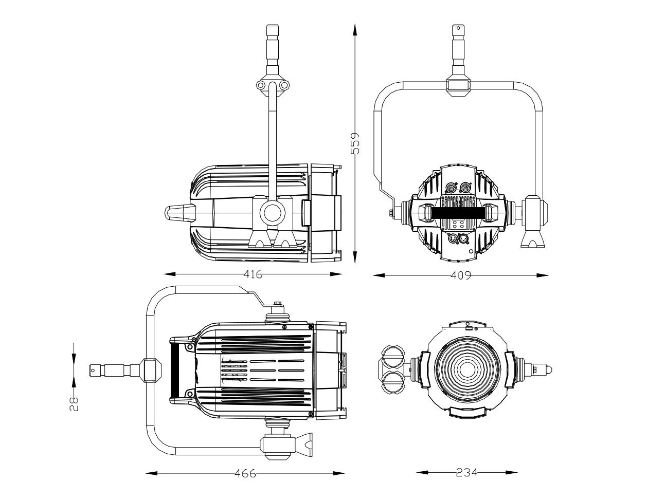 Lites F 200 PO dimensions